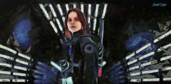 Xxx Painting - Rogue One Jyn Erso - Pa by Leonardo Digenio