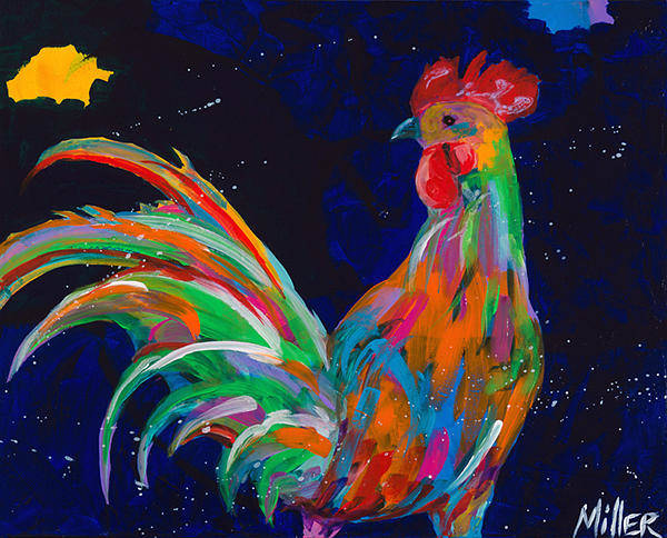 Barnyard Animal Painting - Rojo by Tracy Miller