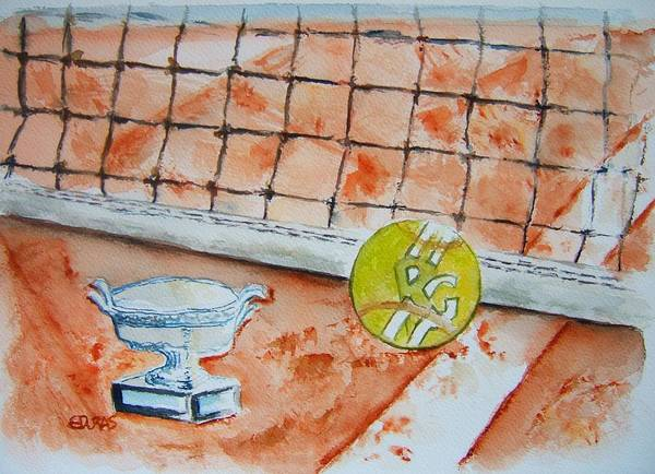 Wall Art - Painting - Roland Garros by Elaine Duras