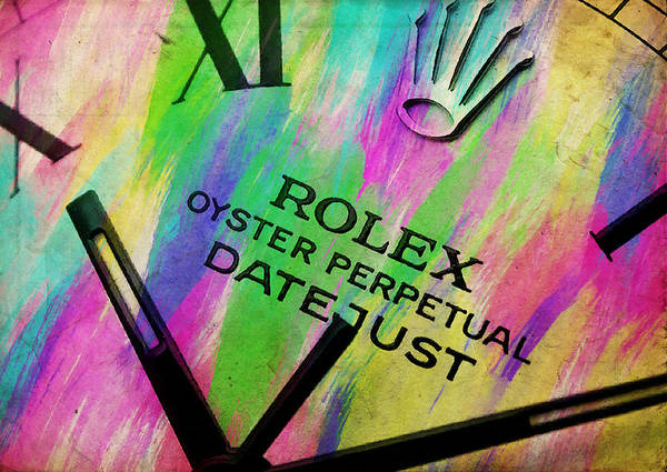 Oyster Bar Wall Art - Photograph - Rolex Watercolor IIi by Ricky Barnard