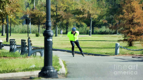 Roller Blades Photograph - Roller Blades Corona Park Ny by Chuck Kuhn