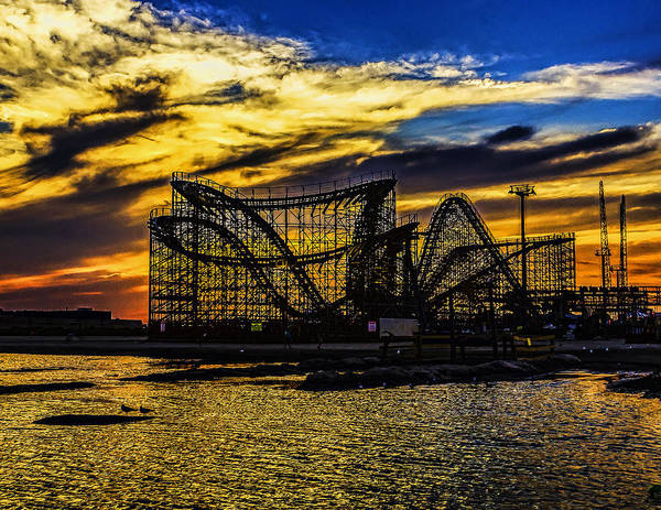 Roller Coaster Sunset Art Print