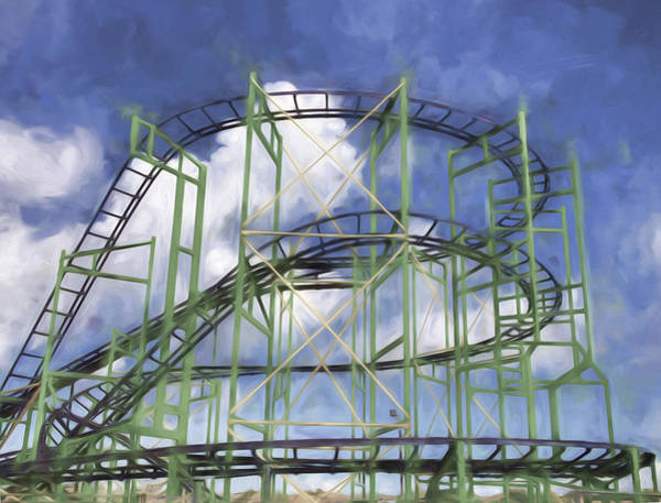 Photograph - Roller Coaster Abstract by Gary Slawsky