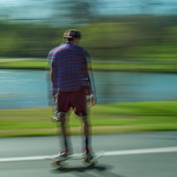 Roller Blades Photograph - Rollerbladers In Forest Park by Garry McMichael