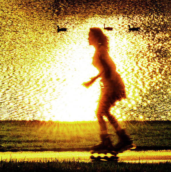 Roller Blades Photograph - Rollerblading In Forest Park by Garry McMichael