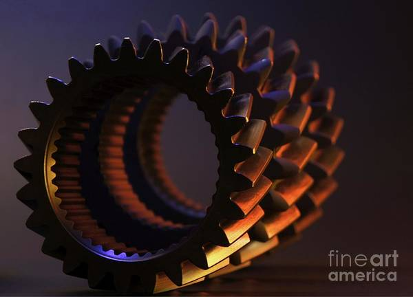 Wall Art - Photograph - Rollin' Gears Color by Chris Fleming