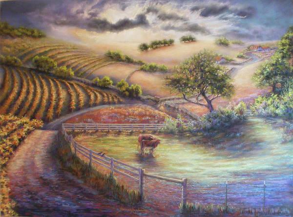 Pastel - Rolling Ballard Canyon by Denise Horne-Kaplan