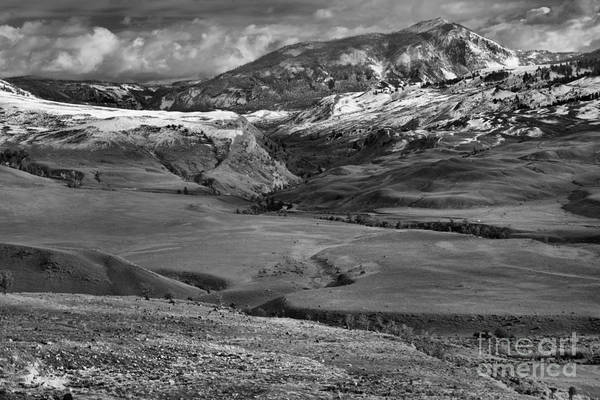 Photograph - Rolling Hills At The Mammoth Entrance Black And White by Adam Jewell