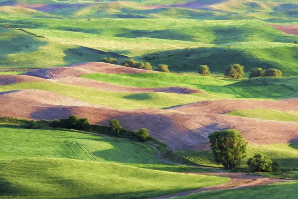 Agriculture Digital Art - Rolling Hillsides II by Jon Glaser