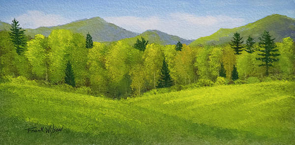 Wall Art - Painting - Rolling Spring Pastures  by Frank Wilson