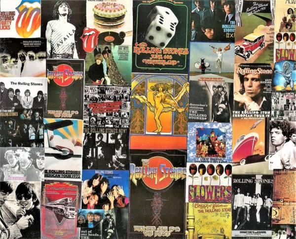 Wall Art - Digital Art - Rolling Stones Collage 1  by Doug Siegel