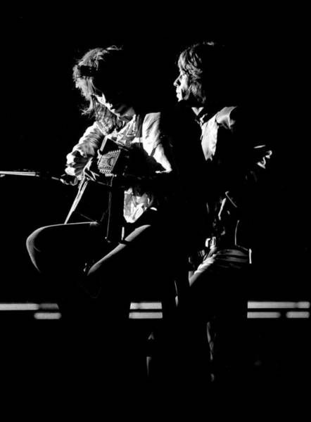 Photograph - Rolling Stones 1970 Mick And Keith Live by Chris Walter