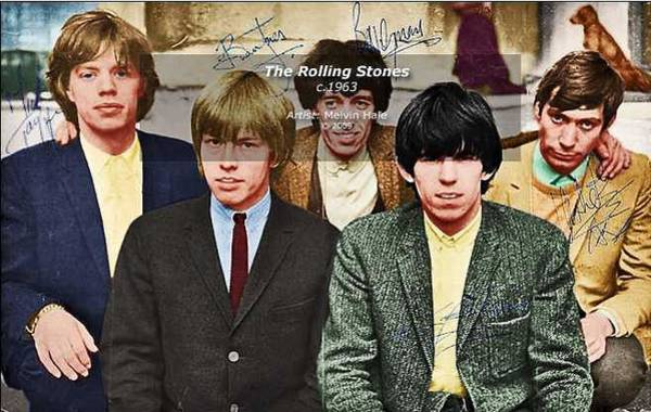 Wall Art - Painting - Rolling Stones C1963 by Melvin Hale