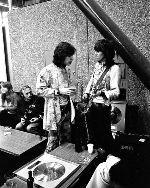 Photograph - Rolling Stones 1970 Mick And Keith by Chris Walter