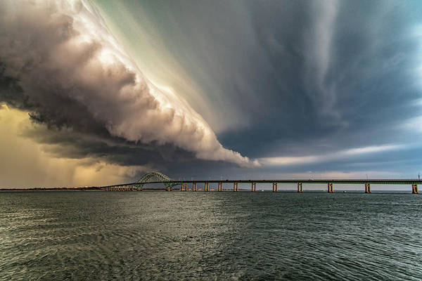 Shelf Cloud Photograph - Rolling Thunder by Marty Losco