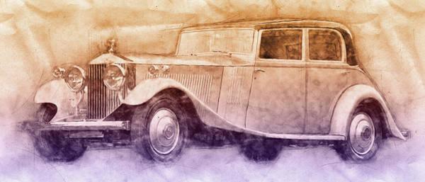 Wall Art - Mixed Media - Rolls-royce Phantom 2 - Luxury Car - 1925 - Automotive Art - Car Posters by Studio Grafiikka