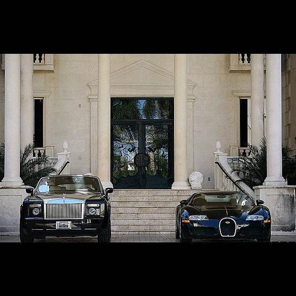 Vehicle Photograph - #rollsroyce #phantom #bugatti #veyron by Exotic Rides
