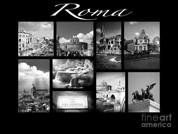 Roms Photograph - Roma Black And White Poster by Stefano Senise