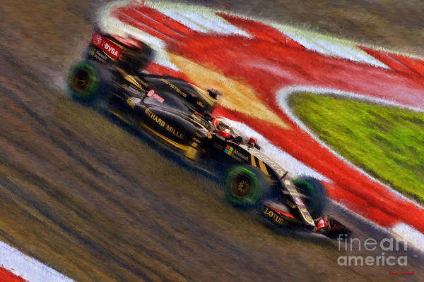 Photograph - Romain Grosjean 2015 Iotus by Blake Richards
