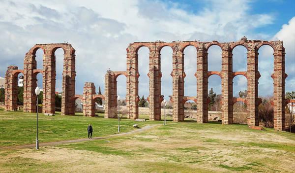 Wall Art - Photograph - Roman Aqueduct Merida Spain by Joan Carroll