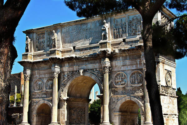 Photograph - Roman Arch by Harry Spitz