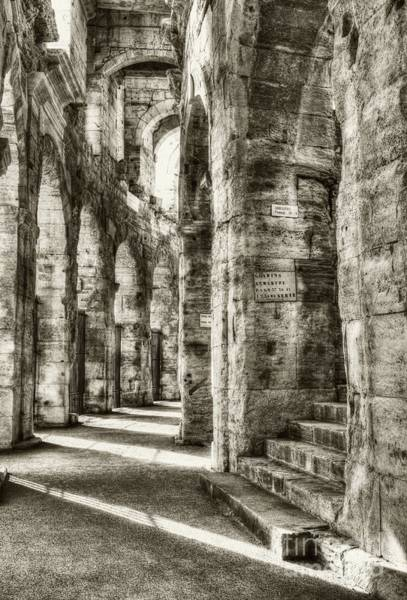 Photograph - Roman Arena At Arles Sepia Tone by Mel Steinhauer