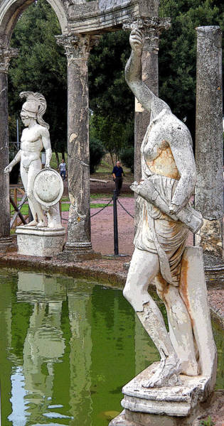 Wall Art - Photograph - Roman Art At Hadrians Reflecting Pool by Mindy Newman