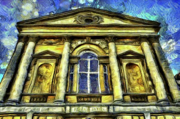 Bath Abbey Photograph - Roman Bath Van Gogh by David Pyatt
