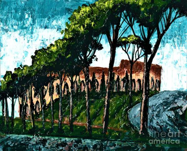 Painting - Roman Colosseum  by Allison Constantino