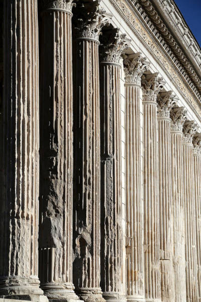 Photograph - Roman Columns 1 by Andrew Fare