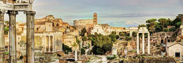 Photograph - Roman Forum Columns by Weston Westmoreland