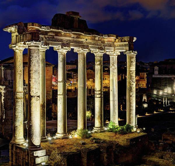 Photograph - Roman Forum Giant Panorama 2 Of 3 by Weston Westmoreland