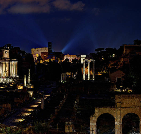 Photograph - Roman Forum Giant Panorama 3 Of 3 by Weston Westmoreland