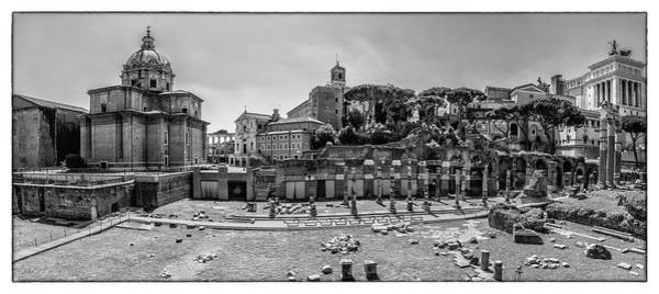 Photograph - Roman Forum In Black And White by Wolfgang Stocker