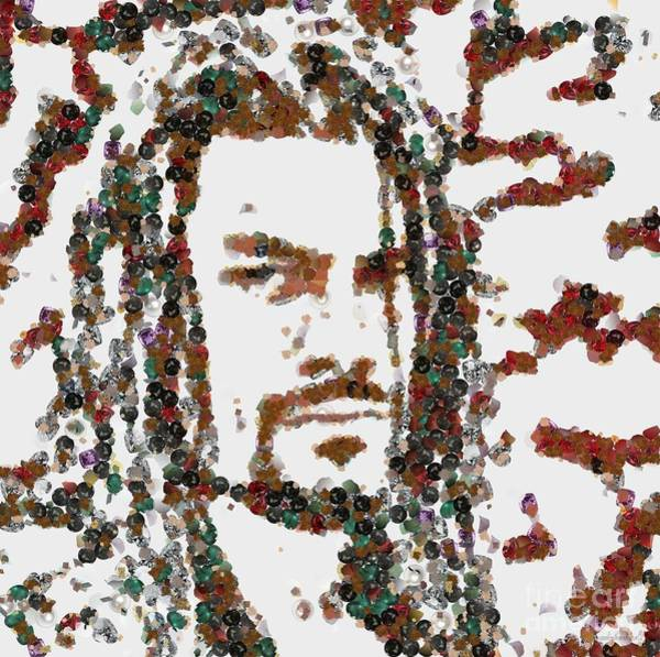 Painting - Roman Reigns Art Pearlesqued In Fragments by Catherine Lott