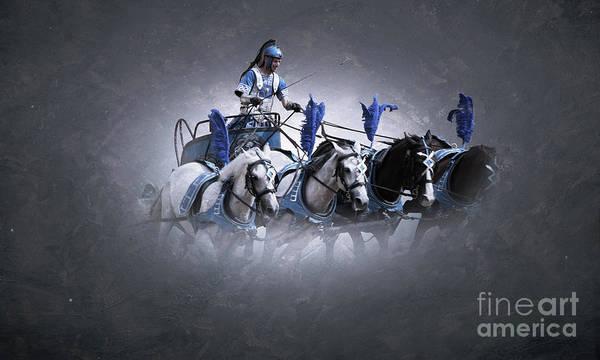 Digital Art - Roman Rider by Sajid Ch