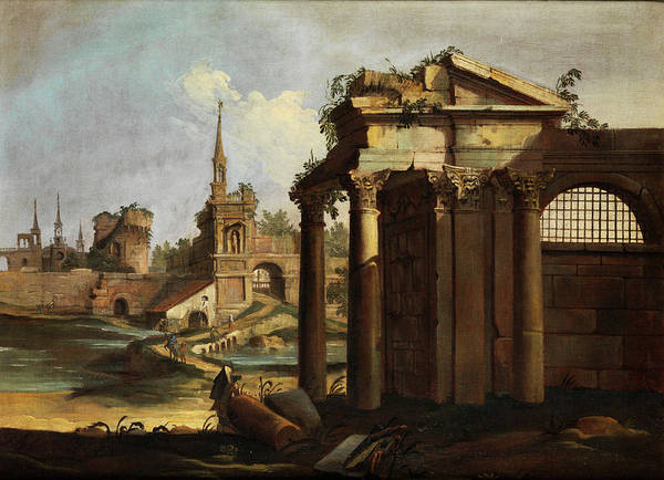 Collapse Painting - Roman Ruinen Capriccio by Giovanni Battista Cimaroli