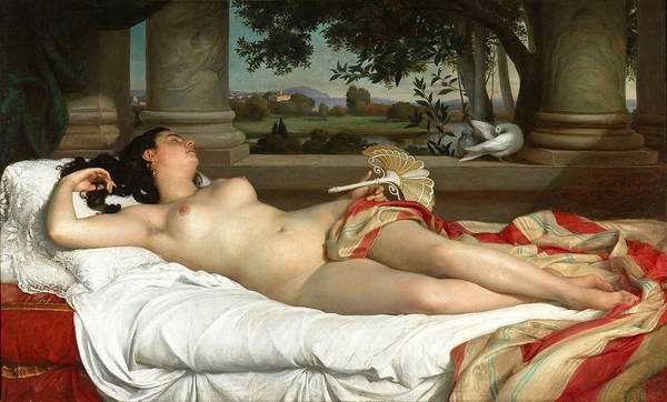 Wall Art - Painting - Roman Sleeping Woman by Felix-Auguste Clement