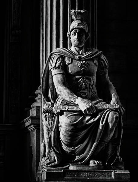 Photograph - Roman Soldier In Nyc. No3 by Val Black Russian Tourchin