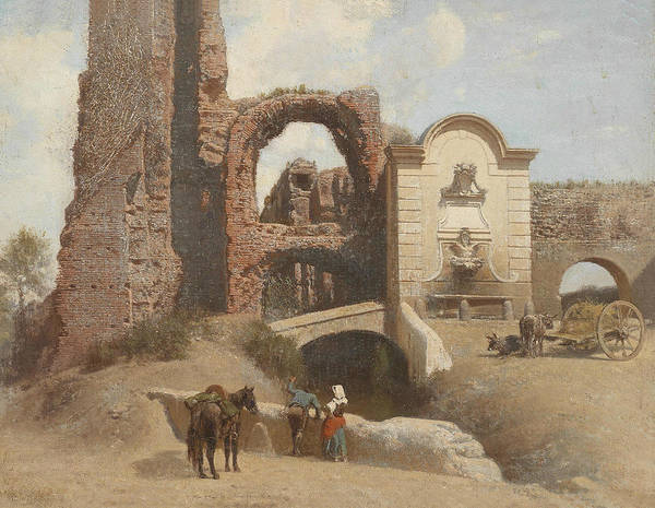Painting - Roman Street Scene With Ruins by Thomas Fearnley