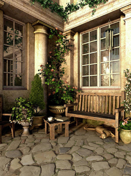 Victorian Garden Wall Art - Digital Art - Romance Novel by Cynthia Decker