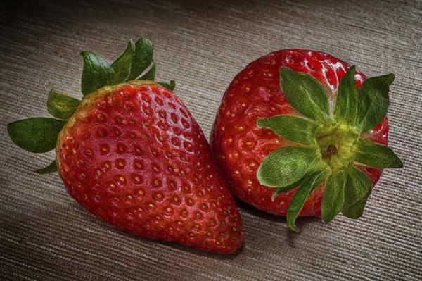 Vegetal Photograph - Romance Of Strawberries by Hernan Bua
