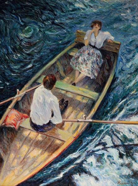 Painting - Dordogne , Beynac-et-cazenac , France ,romantic Boat Trip by Pierre Van Dijk