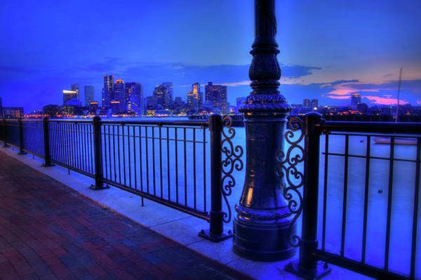 Photograph - Romantic Boston - Boston Skyline At Night by Joann Vitali