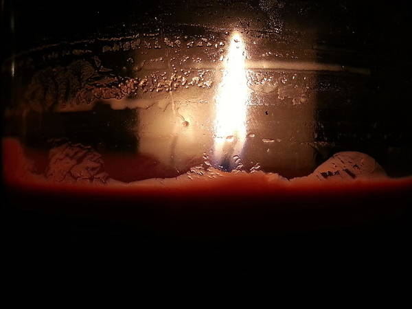 Romantic Candle Art Print