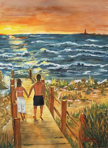 Romantic Evening Art Print
