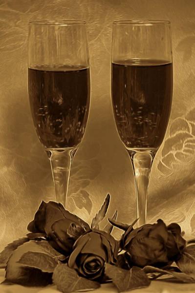 Mixed Media - Romantic Evening by Pamela Walton