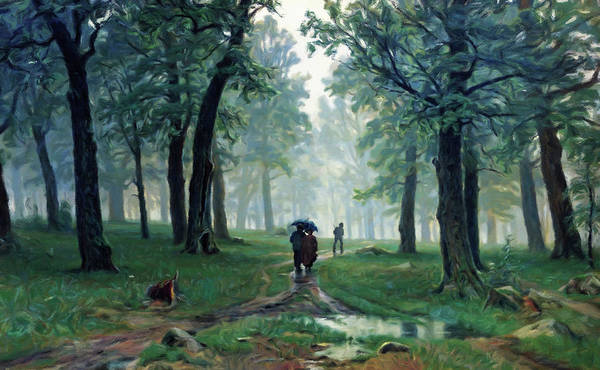 Painting - Romantic Forest Walk In The Rain by Isabella Howard