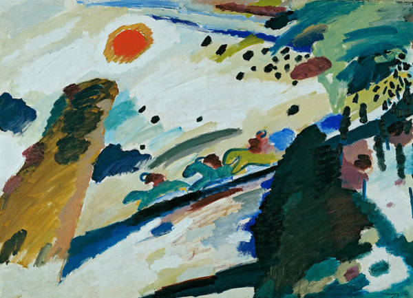 Painting - Romantic Landscape by Wassily Kandinsky