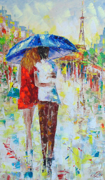 Painting - Romantic Paris by Frederic Payet